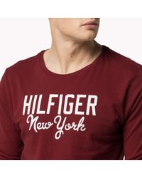 Tommy Hilfiger | Red Organic Jersey T-shirt for Men | Lyst