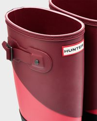 HUNTER - Black Women's Asymmetric Color Block Rain Boots - Lyst