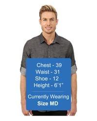 Calvin Klein | Gray Slub Twill Double Pocket Roll-sleeve Woven Shirt for Men | Lyst