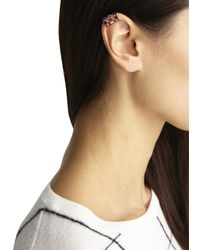 MFP MariaFrancescaPepe | Pink Rose Gold Rhodium Swarovski Ear Cuff | Lyst