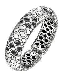 John Hardy - Naga Lava Bold Flex Cuff With Black Sapphire - Lyst
