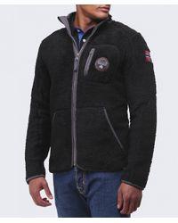 Napapijri - Black Yupik Fleece Jacket for Men - Lyst