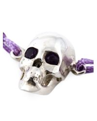 Leivan Kash - Purple Amethyst Eyes Skull Bracelet - Lyst