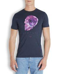 Paul Smith - Blue Neptune Skull Printed Cotton T-Shirt for Men - Lyst