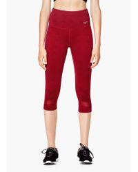 Mango | Red Fitness & Running - Slimming Effect Capri Leggings | Lyst