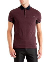 Ted Baker | Red Pabloe Cotton Polo Shirt for Men | Lyst