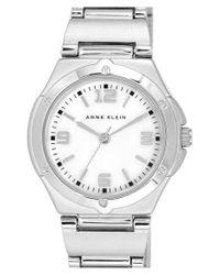 Anne Klein - Metallic Dual Finish Bracelet Watch - Lyst