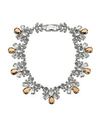 Mews London - Metallic Rose Crystal Collar Necklace - Lyst
