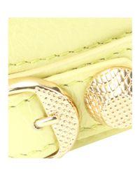 Balenciaga - Yellow Giant Leather Bracelet - Lyst