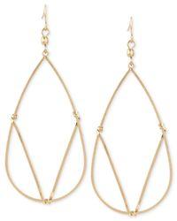 Kenneth Cole | Metallic Gold-tone Geometric Wire Earrings | Lyst