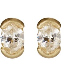 Tate | Metallic Oval Stud Earrings | Lyst