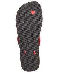 Havaianas | Black Top Optical Zig Zag Sandals for Men | Lyst