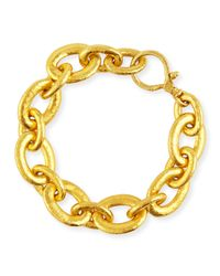 Gurhan - Metallic 24k Galahad Mixed-sized Oval Link Bracelet - Lyst