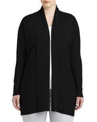 Lafayette 148 New York - Black Shawl-collar Wool Cardigan - Lyst