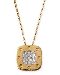 Roberto Coin - Metallic 18k Yellow Gold Pois Moi Diamond Pendant Necklace - Lyst