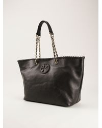 Tory Burch - Black Small Marion Tote - Lyst