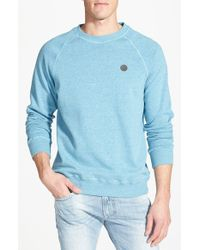 Volcom - Green 'pulli' Raglan Crewneck Sweatshirt for Men - Lyst