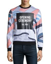 Opening Ceremony | Blue Pools Long-sleeve Sweatshirt for Men | Lyst