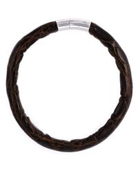 Tateossian | Black 'alligator Cobra' Bracelet for Men | Lyst