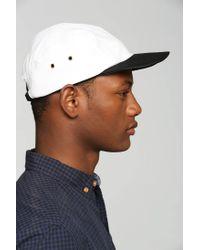 Zanerobe - Black White Leather 5-Panel Hat for Men - Lyst