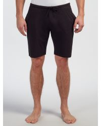 SELECTED - Black Lounge Shorts for Men - Lyst