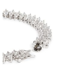 CZ by Kenneth Jay Lane - Metallic Stacked Round Cut Cubic Zirconia Bracelet - Lyst