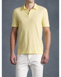 John Varvatos | Yellow Peace Polo for Men | Lyst