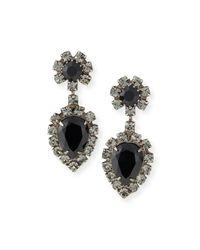 DANNIJO | Black Mirabella Jet Crystal Earrings | Lyst