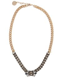 Anton Heunis | Blue Belle Swarovski Pale Gold-plated Necklace | Lyst
