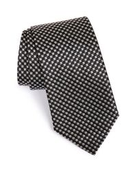 BOSS - Black Geometric Pattern Silk Tie for Men - Lyst