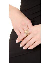 Aurelie Bidermann - Metallic Vintage Lace Ring - Gold - Lyst