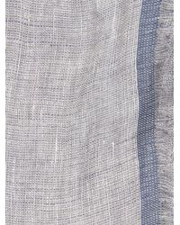 Gieves & Hawkes - Blue Linen And Silk-Blend Scarf for Men - Lyst