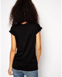 ASOS | Black Body With Square Neck And Strappy Back | Lyst