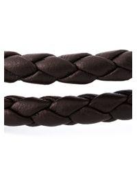 DIESEL - Brown Braided Bracelet for Men - Lyst