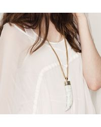Jenny Bird - White Wildland Necklace - Large - Lyst
