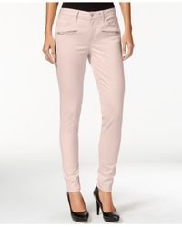 Calvin Klein Jeans | Pink Skinny Colored Wash Jeans | Lyst