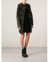 DROMe - Green Fur Coat - Lyst