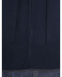 Michael Kors | Blue Regular Fit Tipped Crew Neck Wool Jumper for Men | Lyst