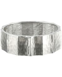 Kenneth Jay Lane | Metallic Ribbed Bracelet W/ Hinge | Lyst