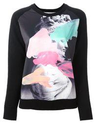 Lulu & Co | Black Printed Sweater | Lyst