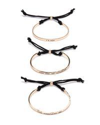 Forever 21 | Black I Love You Bracelet Set | Lyst