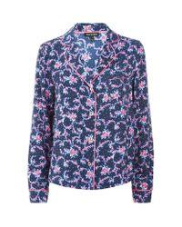 Juicy Couture - Blue Rose Pyjama Top - Lyst