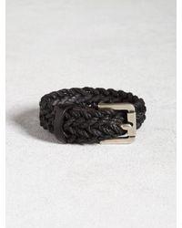 John Varvatos | Black Braided Cuff for Men | Lyst