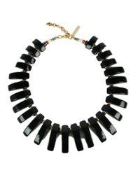 Lizzie Fortunato - Black Tile Necklace - Lyst