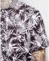 ASOS - Blue Shirt In Hawaiian Print for Men - Lyst