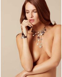Agent Provocateur | Metallic Adora Necklace Silver And Rose Gold | Lyst