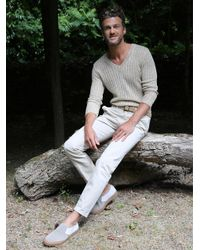 Agnes B. - Natural Beige Linen Yohan Sweater - Lyst