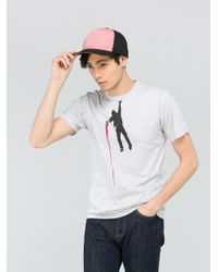 Agnes B. - Gray Grey Ash T-shirt for Men - Lyst