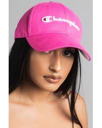 Champion - Pink Classic Twill Hat - Lyst