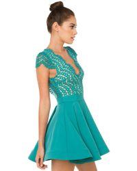 AKIRA - Multicolor Jolie Skater Dress - Lyst